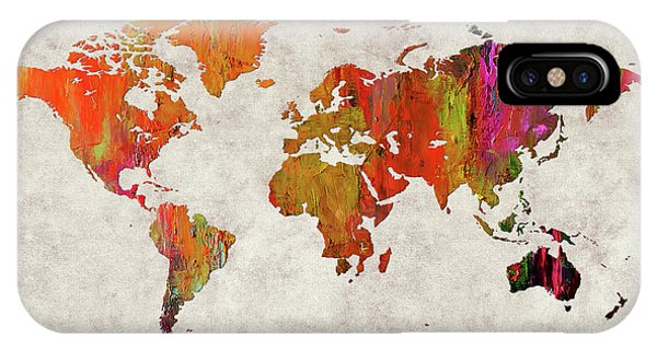 iPhone Case - World Map 57 by World Map
