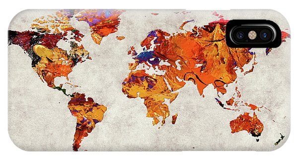 iPhone Case - World Map 58 by World Map