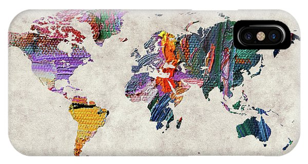 iPhone Case - World Map 59 by World Map