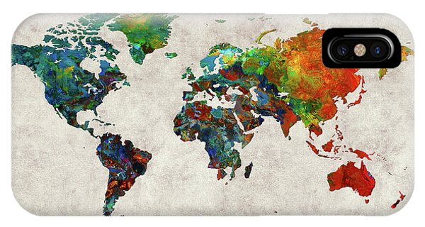 iPhone Case - World Map 61 by World Map