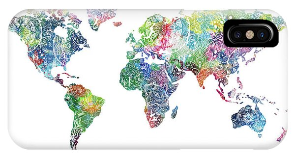 World map wallpaper iphone cases fine art america world map wallpaper iphone case world map mandala white by bekim art gumiabroncs Images