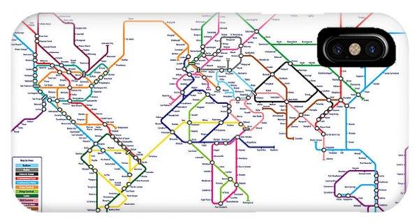 World Metro Tube Subway Map IPhone Case