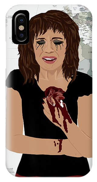 IPhone Case featuring the digital art World Pain by Nancy Levan