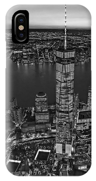 World Trade Center Wtc From High Above Bw IPhone Case