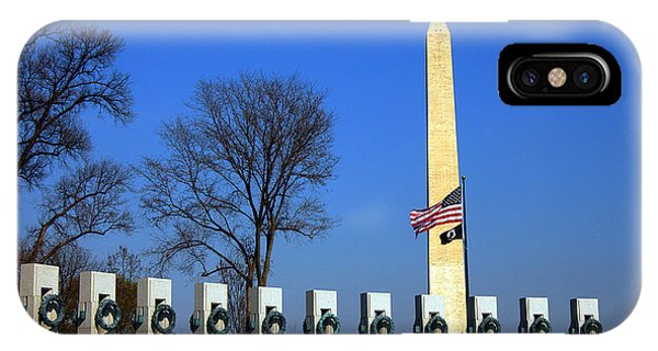 World War II Memorial And Washington Monument IPhone Case