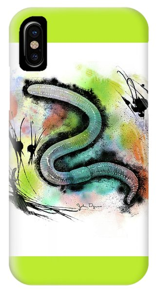 Worm Illustration IPhone Case