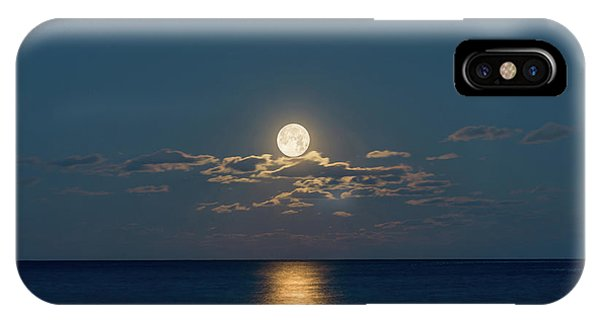 Worm Moon Over The Atlantic IPhone Case