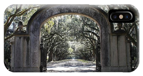 Wormsloe Plantation Gate IPhone Case