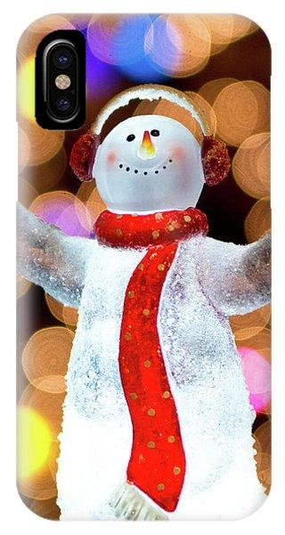 Worshiping Snowman IPhone Case