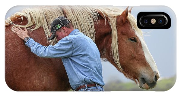 Wrangler Jeans And Belgian Horse IPhone Case
