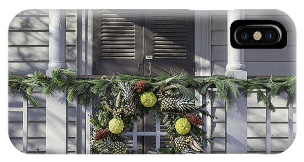 Wreath At Robert Carter House IPhone Case