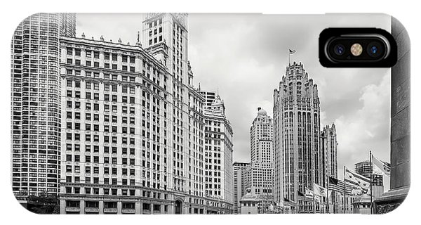 Chicago River iPhone Case - Wrigley Building Chicago by Adam Romanowicz