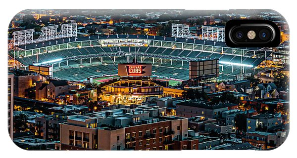 Wrigley Field iPhone Case - Wrigley Field From Park Place Towers Dsc4678 by Raymond Kunst