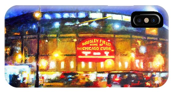Wrigley Field iPhone Case - Wrigley Field Home Of Chicago Cubs by Michael Durst
