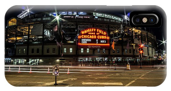 Wrigley Field Marquee At Night IPhone Case