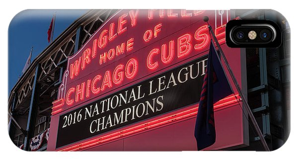 Wrigley Field Marquee Cubs National League Champs 2016 IPhone Case