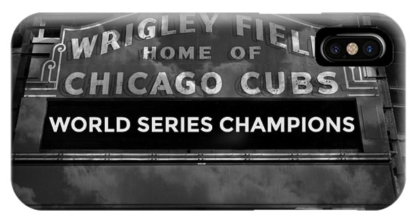 Wrigley Field Sign -- Bw IPhone Case