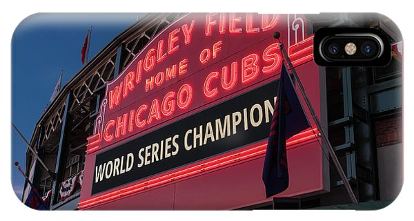 Wrigley Field World Series Marquee IPhone Case