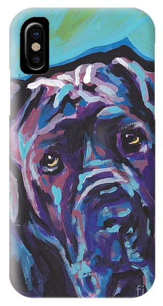 Mastiff iPhone Case - Wrinkly Neo by Lea S