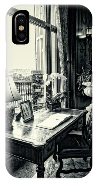 Writing Desk Bw Series 0808 IPhone Case