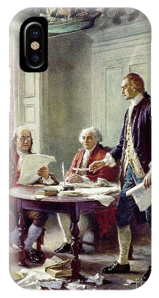 Writing The Declaration Of Independance IPhone Case