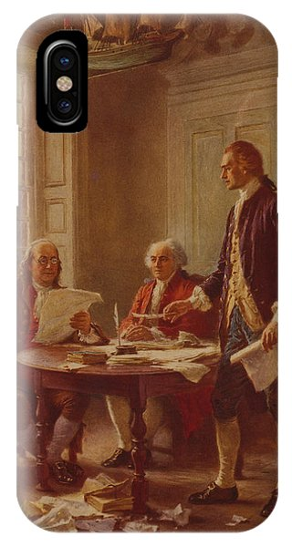 July 4 iPhone Case - Writing The Declaration Of Independence by Jean Leon Gerome Ferris