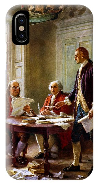 Ben iPhone Case - Writing The Declaration Of Independence by War Is Hell Store