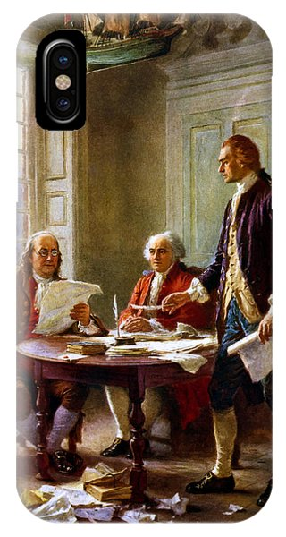 Hero iPhone Case - Writing The Declaration Of Independence by War Is Hell Store