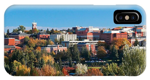 iPhone Case - Wsu Autumn Panorama by David Patterson
