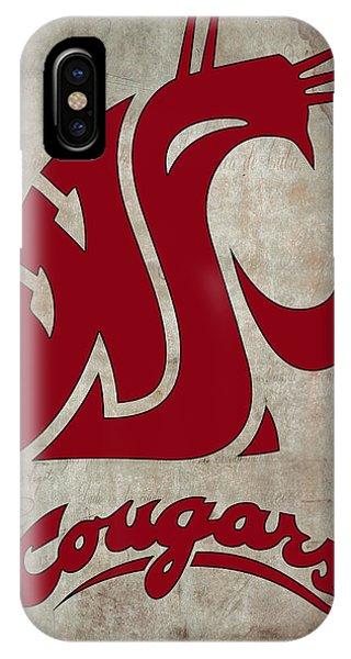 Washington iPhone Case - W S U Cougars by Daniel Hagerman