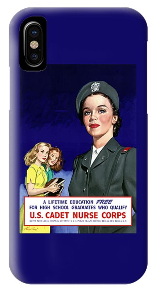 World War Two iPhone Case - Ww2 Us Cadet Nurse Corps by War Is Hell Store