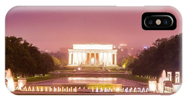 Lincoln Memorial iPhone Case - Wwii And Lincoln Memorials by Baltzgar