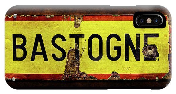 Wwii Bastogne Town Sign IPhone Case