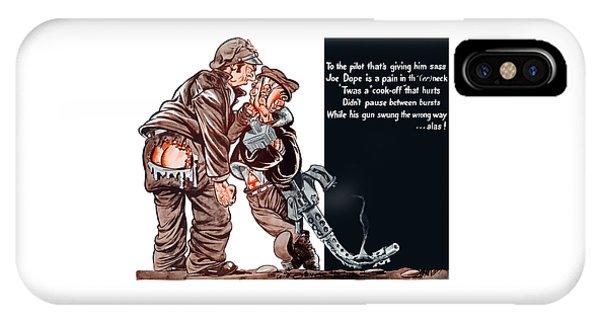 Cartoon iPhone Case - Wwii Joe Dope Cartoon by War Is Hell Store