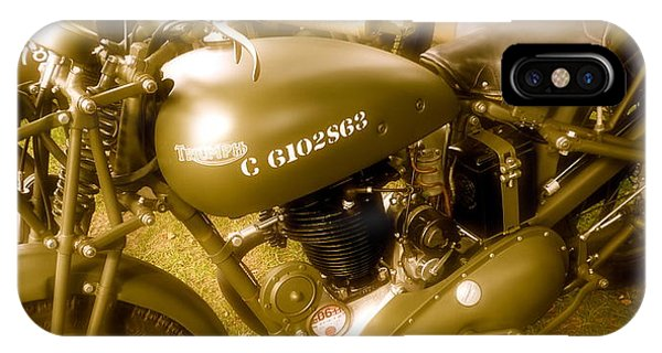 Wwii Triumph Despatch Rider Motorcycle IPhone Case