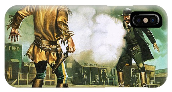 Quick iPhone Case - Wyatt Earp At Work In Dodge City by Ron Embleton