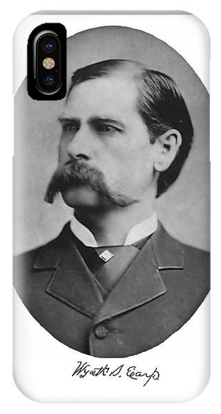 Wyatt Earp Autographed IPhone Case