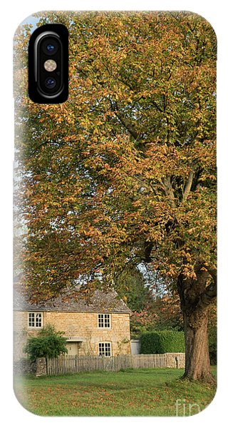 English Village iPhone Case - Wyck Rissington In Autumn by Tim Gainey