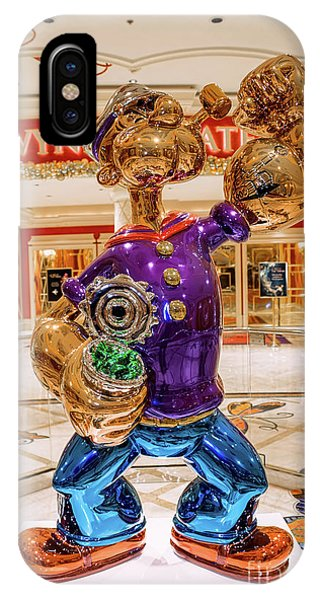 Wynn Popeye Statue By Jeff Koons IPhone Case
