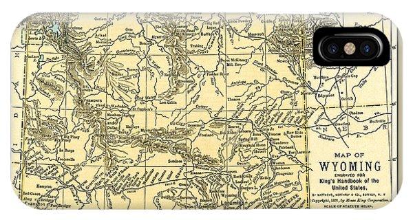 Wyoming Antique Map 1891 IPhone Case