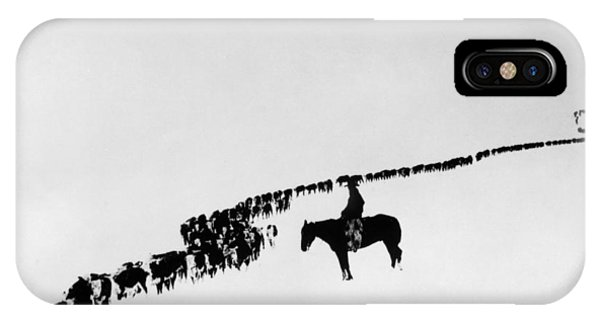 Horse iPhone Case - Wyoming: Cattle, C1920 by Granger