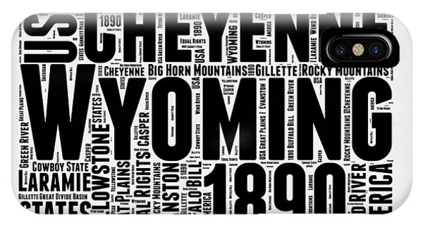 Wyoming Word Cloud Map 2 IPhone Case