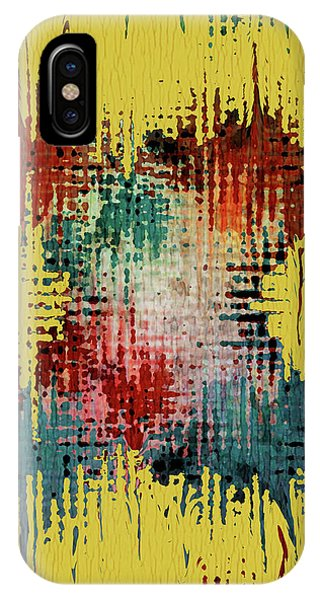 Contemporary Abstract iPhone Case - X Marks The Spot by Bonnie Bruno