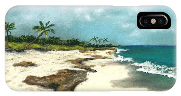 IPhone Case featuring the painting Xcaret - Mexico - Beach by Anastasiya Malakhova