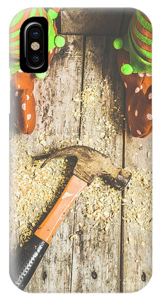 Elf iPhone Case - Xmas Workshop Elf by Jorgo Photography - Wall Art Gallery