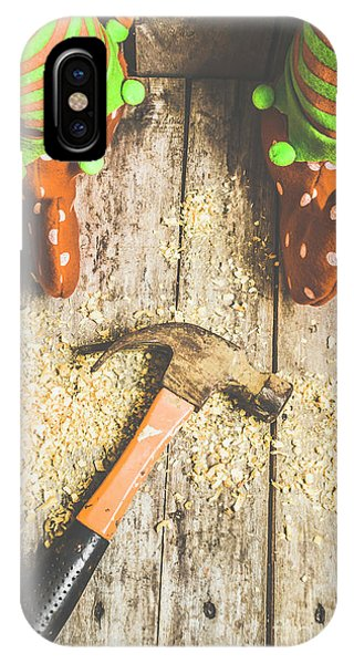Elf iPhone X Case - Xmas Workshop Elf by Jorgo Photography - Wall Art Gallery