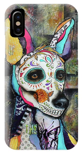 Xolo Mexican Hairless Day Of The Dead IPhone Case