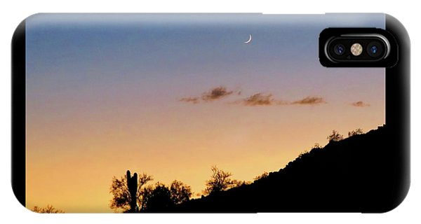 Y Cactus Sunset Moonrise IPhone Case