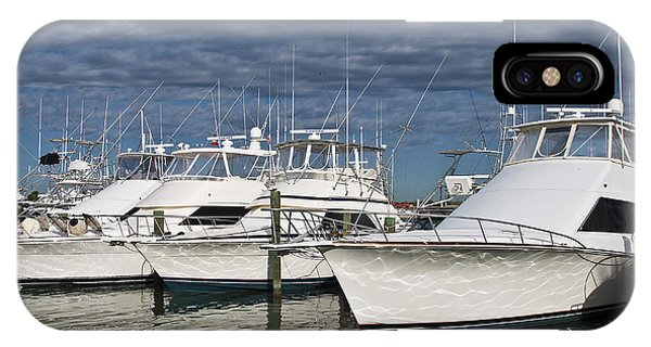 Yachts At The Dock IPhone Case