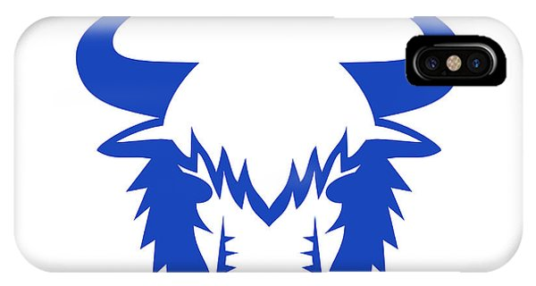 Yak Head Front Retro IPhone Case